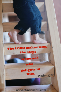 The LORD makes firm