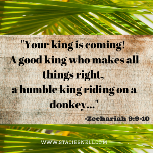 Your king is coming! A good king who